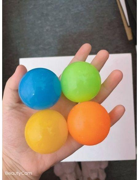 ni/ños Juguetes de descompresi/ón para Adultos Juguetes de Bolas Adhesivas Bolas Adhesivas Globbles 4 Piezas Bolas de Pared para aliviar el estr/és Bolas antiestr/és